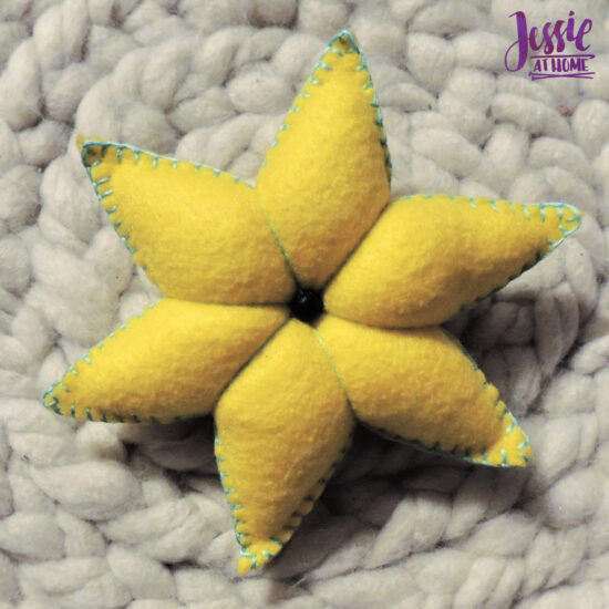 Felt Holiday Star - Felt Craft Tutorial by Jessie At Home - Add Beads to Centers