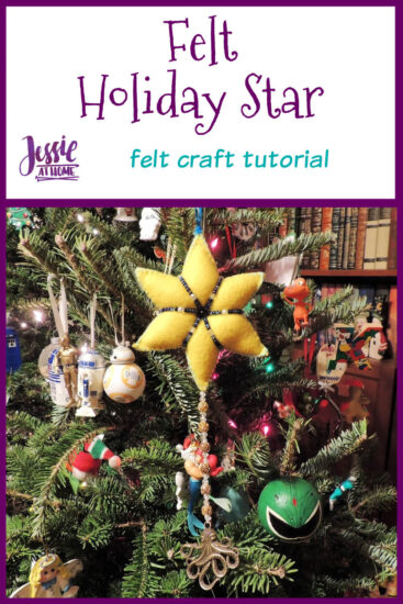 Felt Holiday Star - Felt Craft Tutorial by Jessie At Home - Pin 1