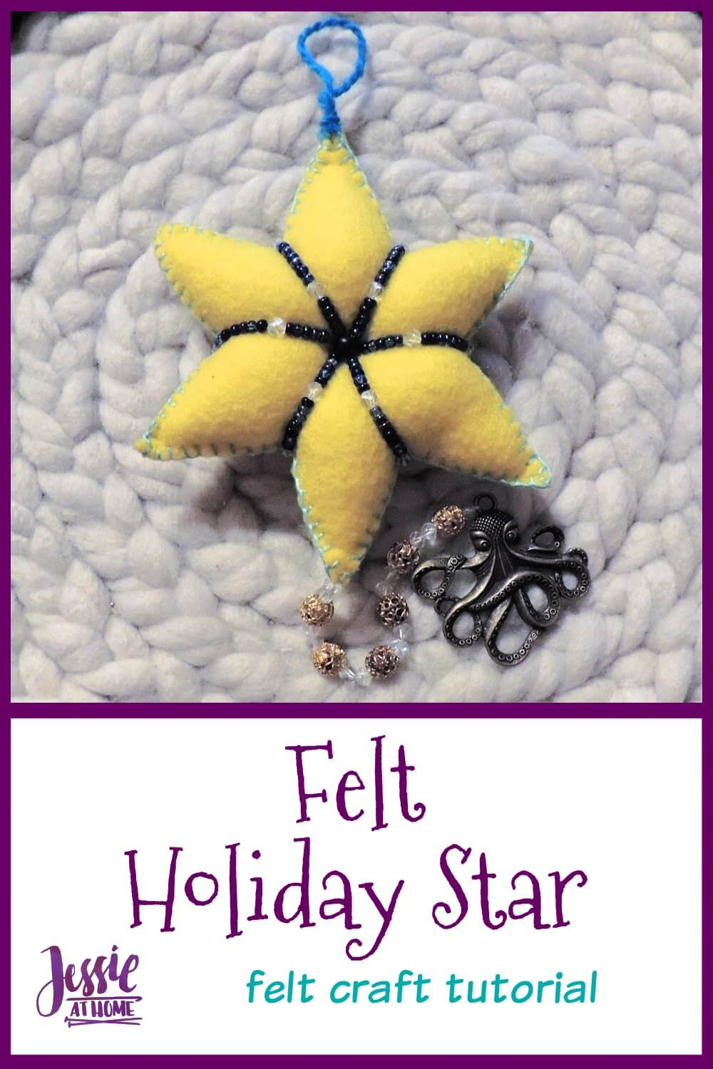 Felt Holiday Star - Shine Bright, Be Merry!