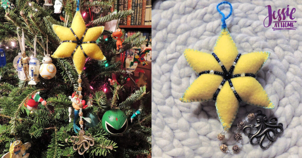 Felt Holiday Star - Felt Craft Tutorial by Jessie At Home - Top Image