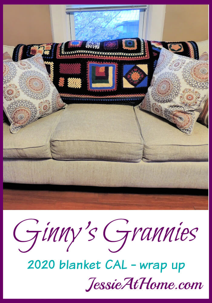 Ginny\'s Grannies - that\'s a wrap for the 2020 Jessie At Home Blanket CAL