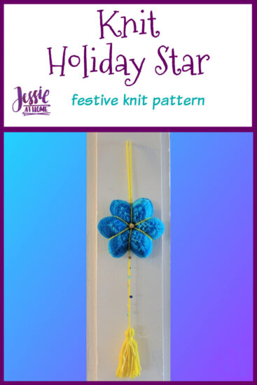 Knit Holiday Star festive knit pattern by Jessie At Home - Pin 1