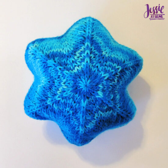 Knit Holiday Star festive knit pattern by Jessie At Home - Stuffed Star