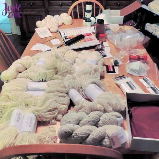 So much yarn to dye