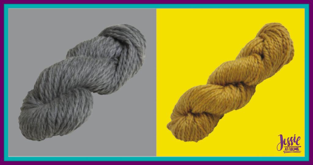 WeCrochet Biggo Yarn - Cobblestone Heather & Tansy Heather