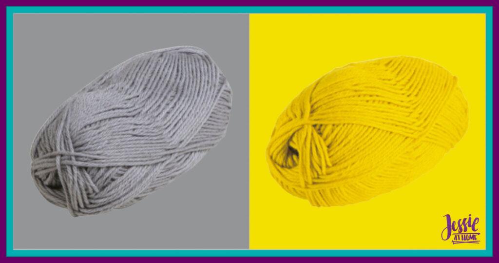 WeCrochet Brava Bulky - Silver & Canary
