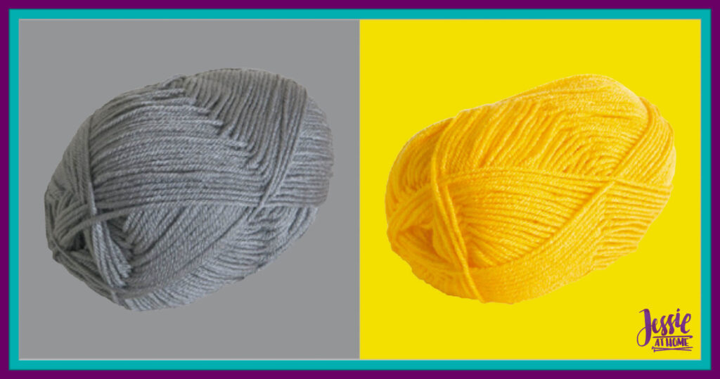 WeCrochet Brava Worsted - Silver & Canary