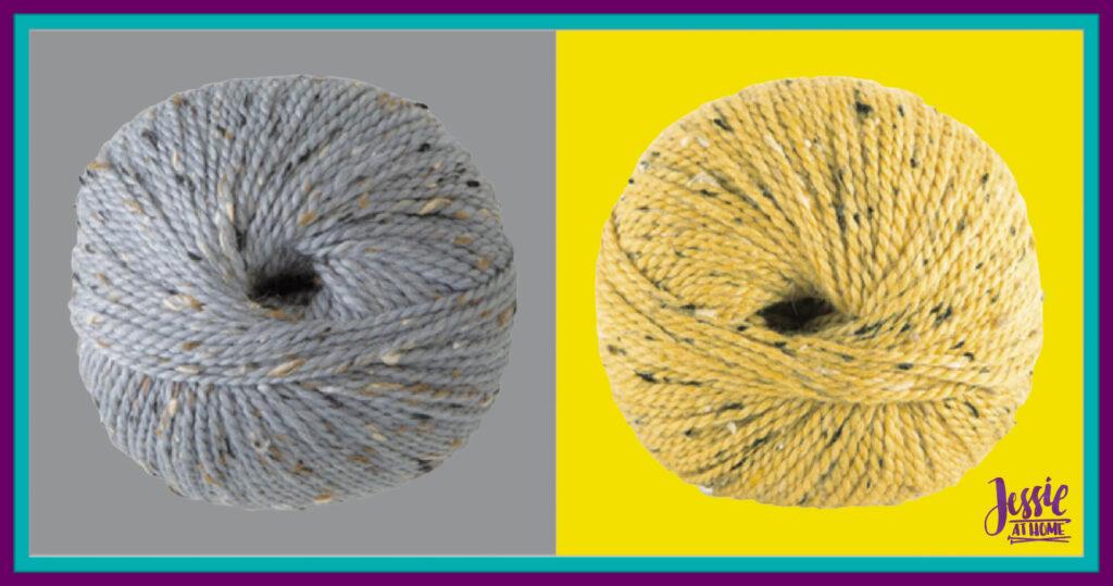 WeCrochet City Tweed Aran_HW - Harbor Seal & Lemon Curd