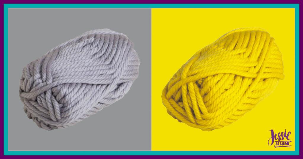 WeCrochet Mighty Stitch Super Bulky - Silver & Canary