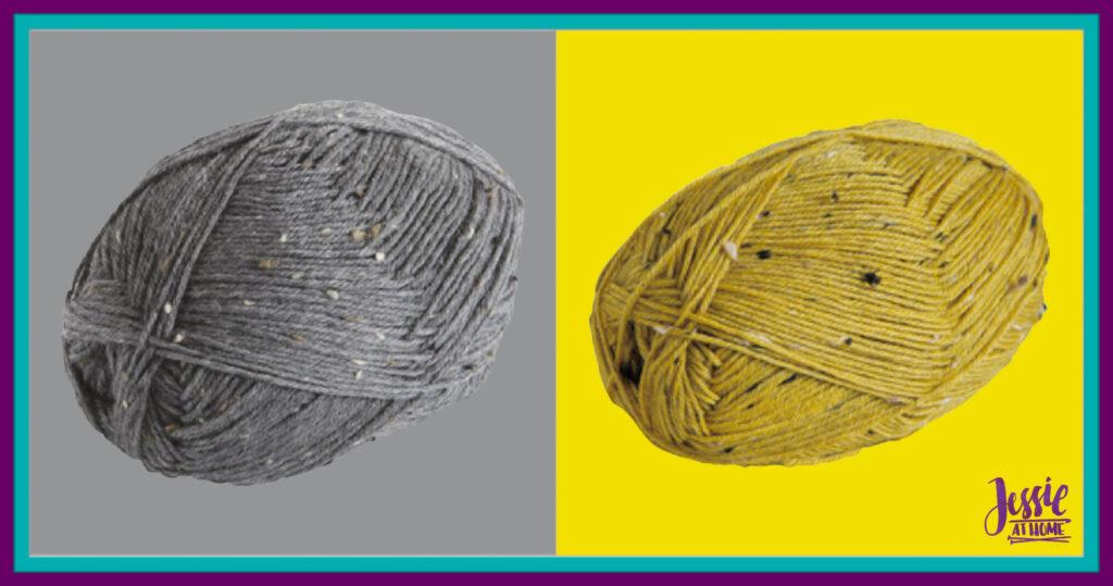 WeCrochet Stroll Tweed - Flagstone Heather & Barley Heather