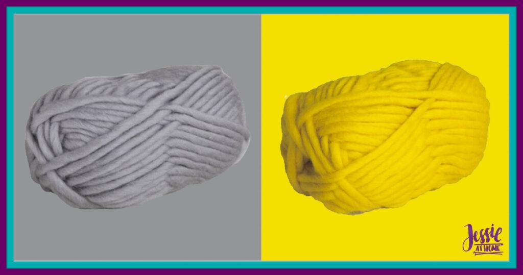 WeCrochet Tuff Puff- Silver & Canary