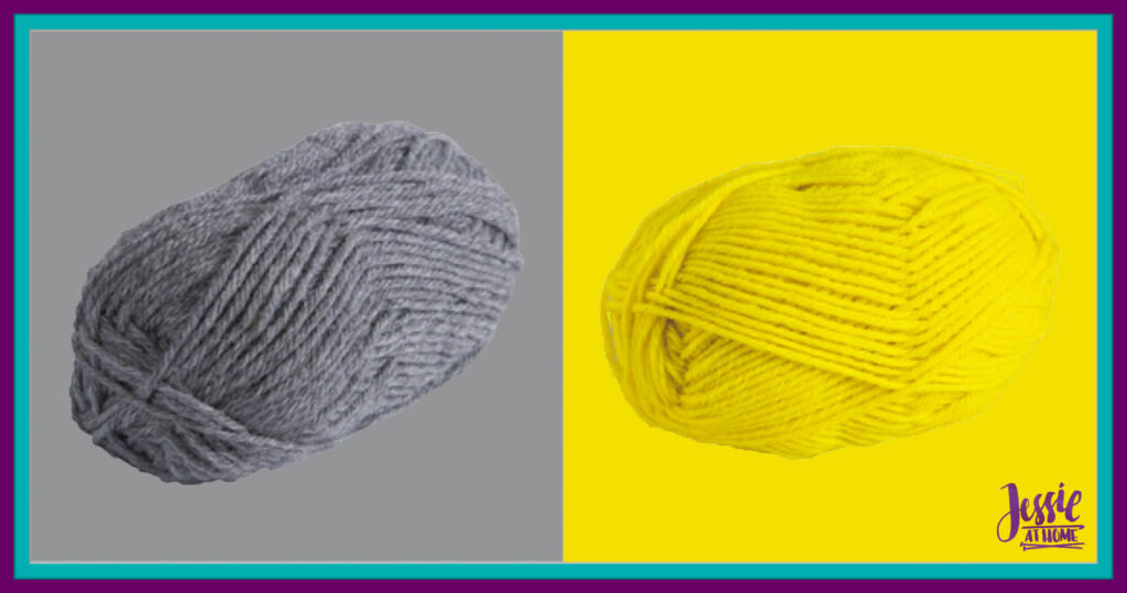 WeCrochet Wool of the Andes Worsted - Marble Heather & Buttercup