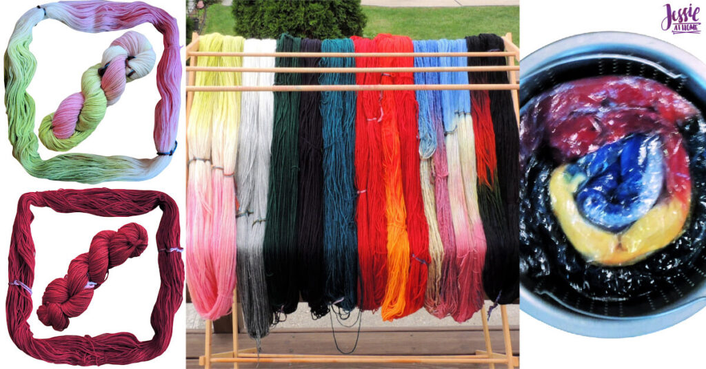 Yarn Dyeing with Greener Shades Acid Dye by Jessie At Home - Social