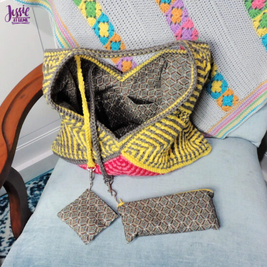 Come Together Purse Lining & Mini Bags sewing tutorial by Jessie At Home - 5