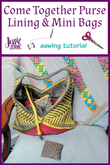 Come Together Purse Lining & Mini Bags sewing tutorial by Jessie At Home - Pin 1