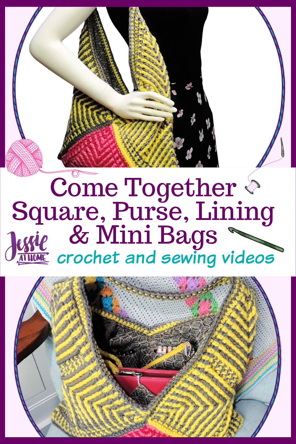 Come Together Video Tutorials - Square and Purse, including Lining & Mini Bags
