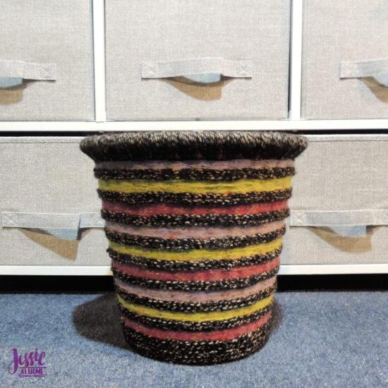 DIY Decorative Waste Basket Tutorial by Jessie At Home - 4