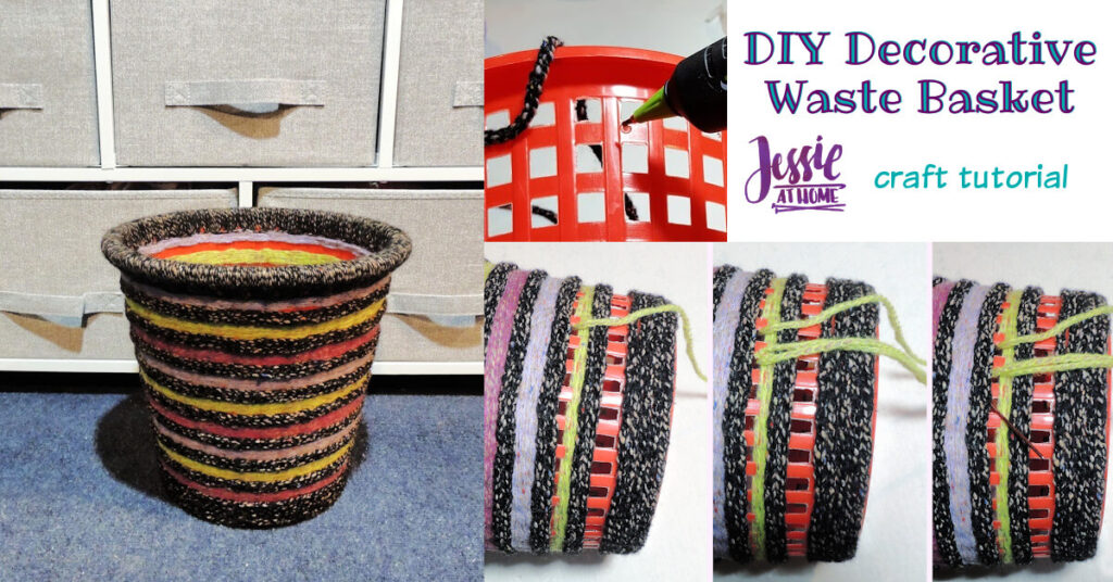 DIY Decorative Waste Basket Tutorial by Jessie At Home - Social
