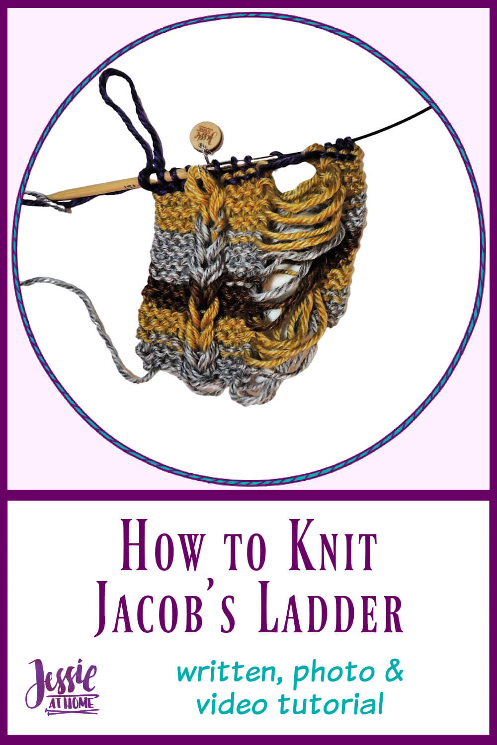 Knit Jacob\'s Ladder - written, photo & video tutorial