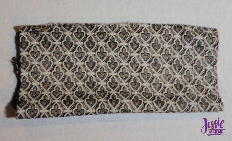 Sew in second side of zipper