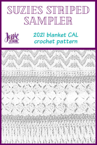 Suzie's Striped Sampler 2021 Blanket CAL by Jessie At Home - Pin 1
