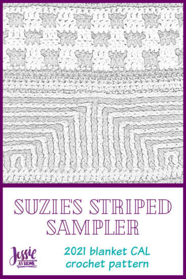 Suzie's Striped Sampler 2021 Blanket CAL by Jessie At Home - Pin 2