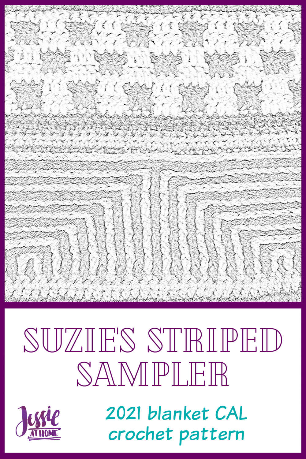 Suzie\'s Striped Sampler 2021 Blanket CAL
