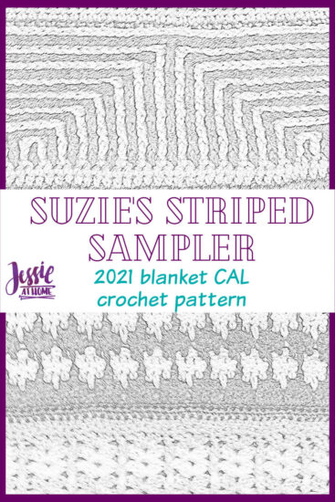 Suzie's Striped Sampler 2021 Blanket CAL by Jessie At Home - Pin 3