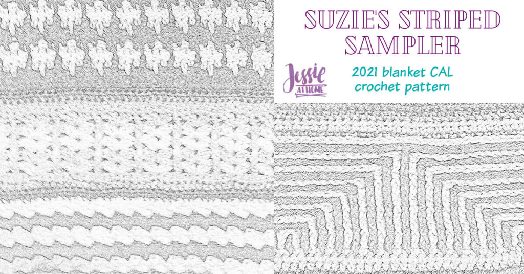 Suzie's Striped Sampler 2021 Blanket CAL by Jessie At Home - Social