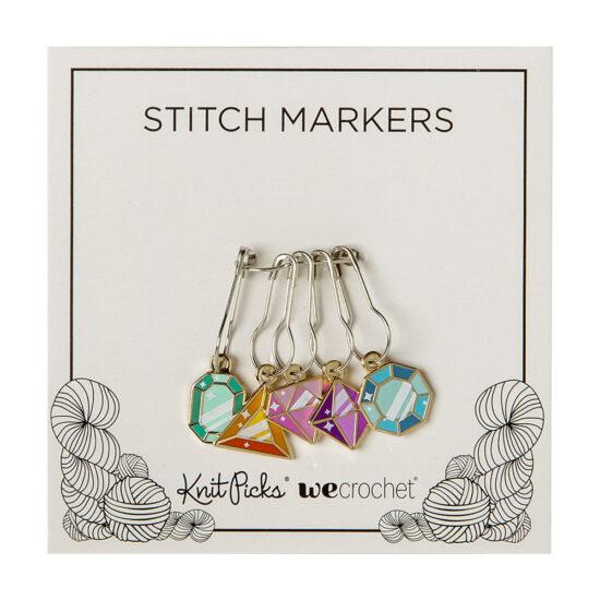 WeCrochet Crystal Gems Enamel Stitch Markers