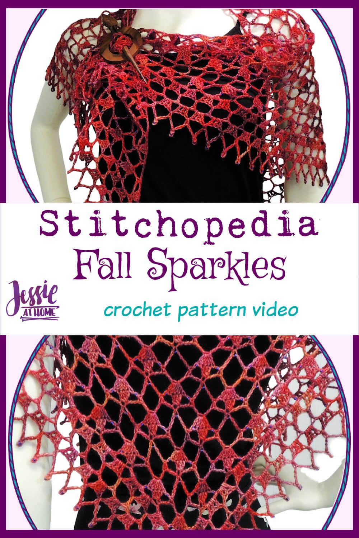 Fall Sparkles Video - beaded crochet shawl pattern tutorial