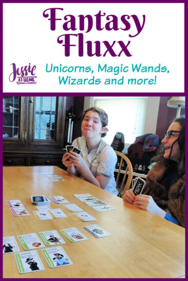 Fantasy Fluxx family game review by Jessie At Home - Pin 1
