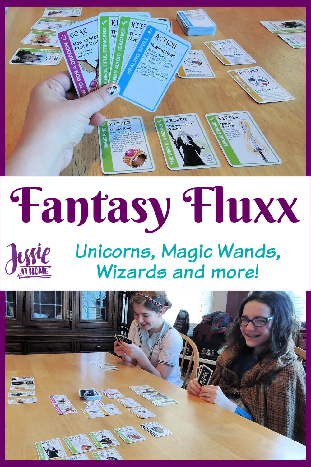Fantasy Fluxx - Unicorns, Magic Wands, Wizards and more!