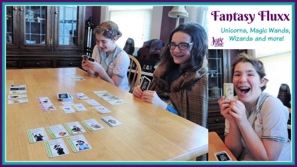 Fantasy Fluxx family game review by Jessie At Home - Social