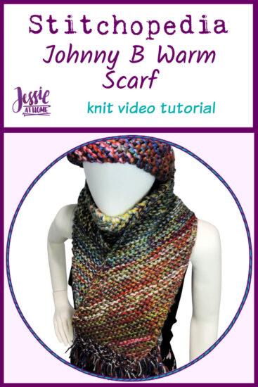 Johnny B Warm Scarf Stitchopedia Knit Video Tutorial - Pin 1