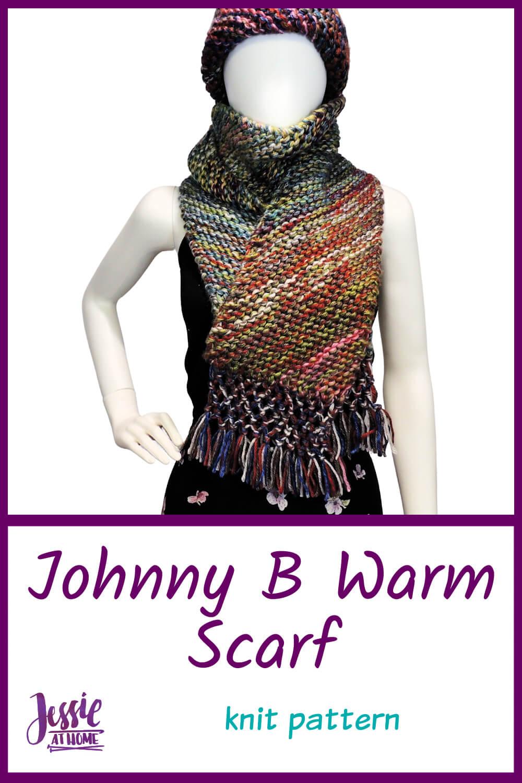 Diagonal Knit Scarf - Johnny B Warm