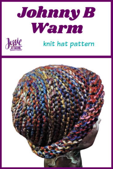 Johnny B Warm knit hat pattern by Jessie At Home - Pin 1