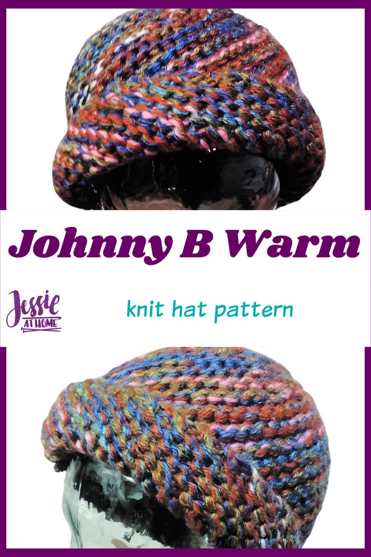 Johnny B Warm Hat - diagonal knit pattern