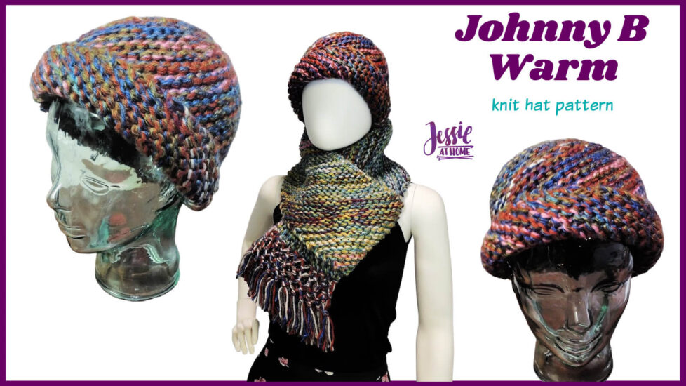 Johnny B Warm knit hat pattern by Jessie At Home - Social