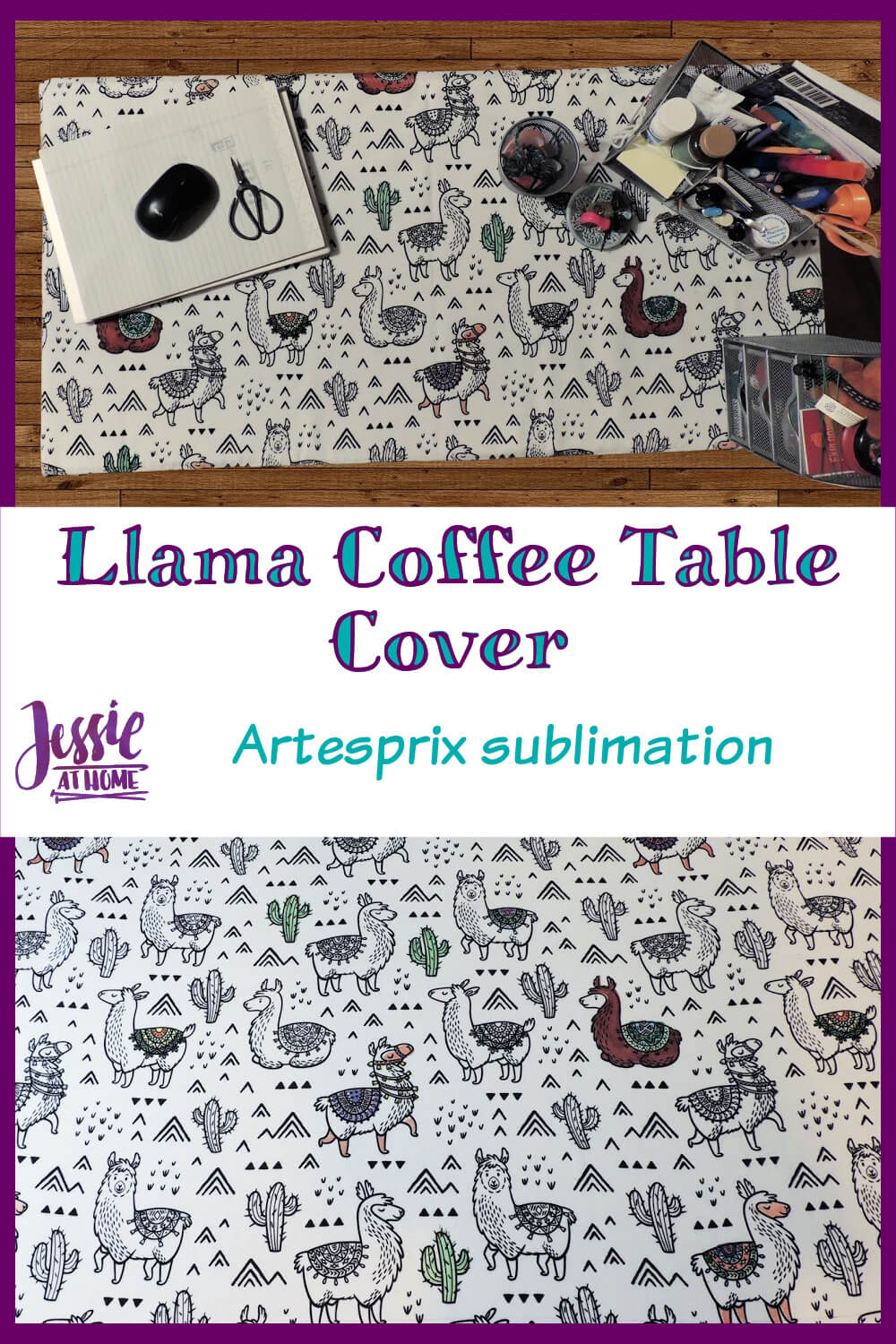 Llama Coffee Table Cover - Sublimation is fun!