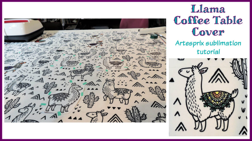 Llama Coffee Table Cover Artesprix Sublimation Tutorial - Social