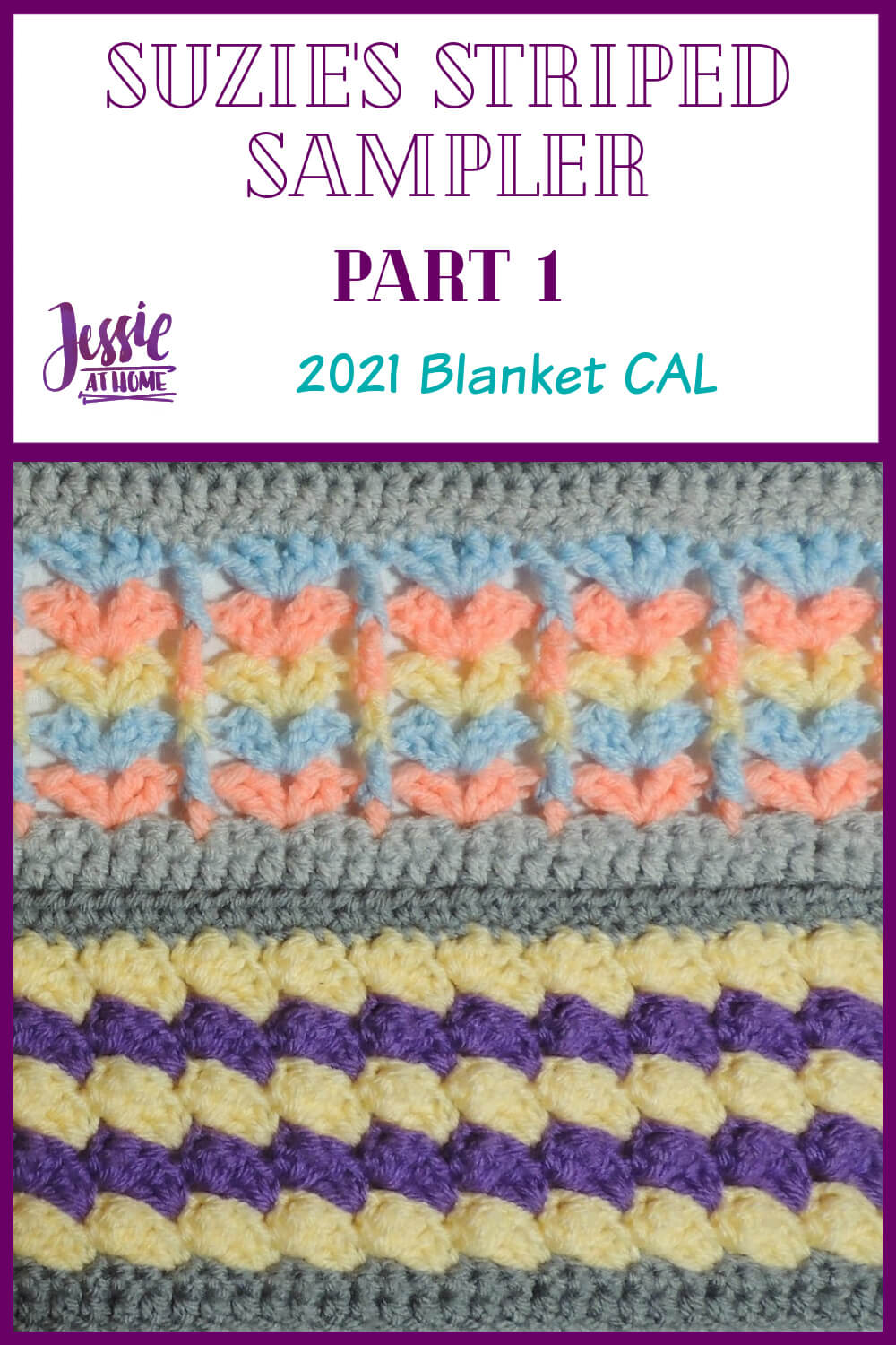 Suzie's Striped Sampler Part 1 by Jessie At Home - Pin 1
