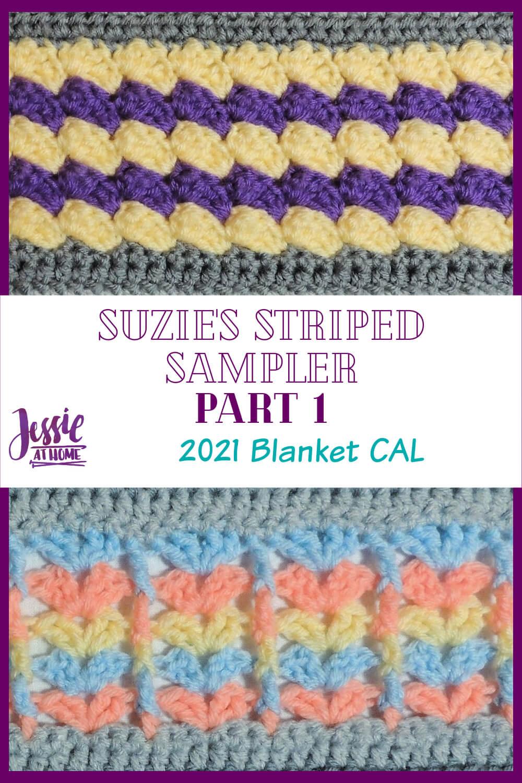 Suzie\'s Striped Sampler Part 1: Blanket Stitch & Sticks and Fans