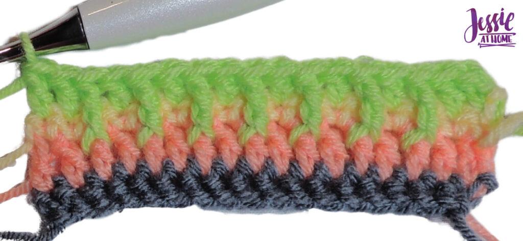Alpine Stitch Row 4