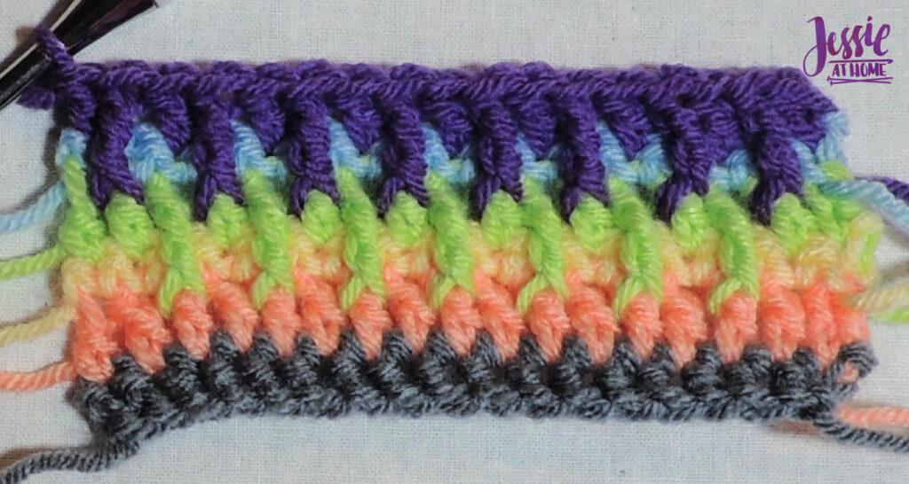 Alpine Stitch Row 6