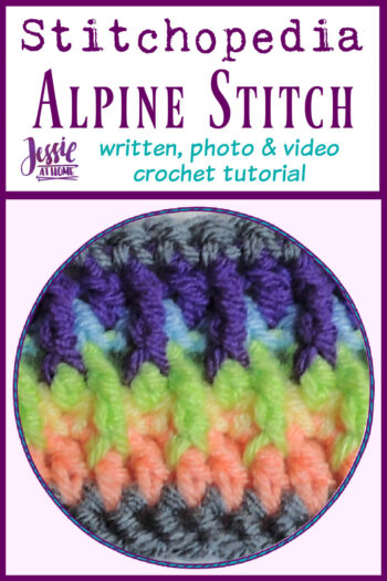 Alpine Stitch Stitchopedia Crochet Video Tutorial - Pin 1