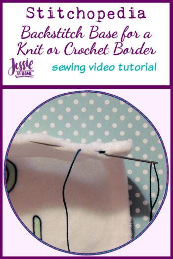 Backstitch Base for a Knit or Crochet Border Stitchopedia Video Tutorial - Pin 1