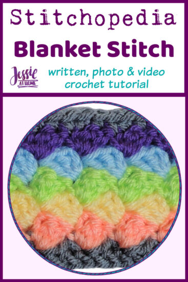 Blanket Stitch Stitchopedia Crochet Video Tutorial - Pin 1