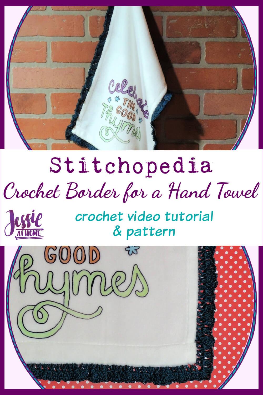 Crochet Hand Towel Border - Crochet Pattern and Video Tutorial
