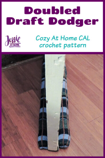 Doubled Draft Dodger crochet pattern by Jessie At Home - Pin 1